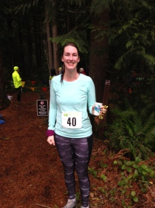 Happy face from a soaked through runner!