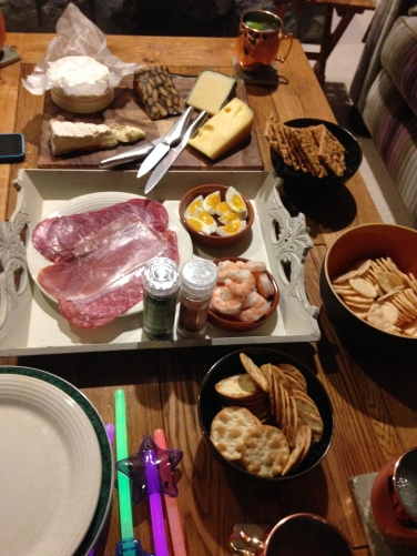 Post dinner cheese and meat