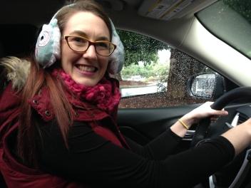 En route in new car
