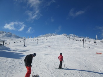 Hubster at the bottom of one slope