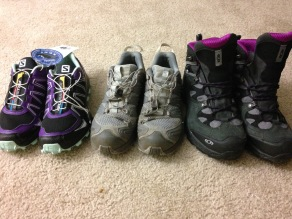All 3 shoes, Salomon rocks for me!
