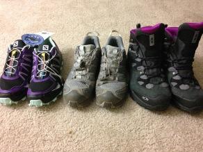 All 3 shoes, Salomon rocks for me!