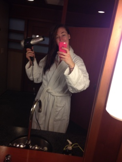 Hair drying after spa before treatments